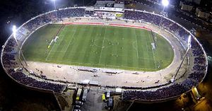 Hapoel Be'er Sheva F.C. - Stadium Vasermil in the 2013/2014 season taken from the air during a game against Maccabi Haifa, which ended with the victory of 1-3 to Be'er Sheva
