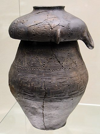 Urnfield culture - Villanovan cinerary urn from Chiusi, 9th-8th century BC.
