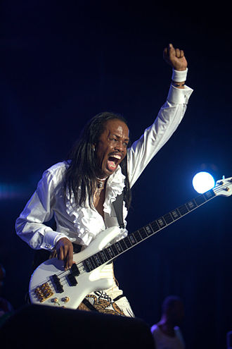 Verdine White - White with Earth Wind, and Fire performing in 2010 in the Netherlands