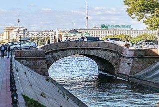 Upper Swan Bridge Bridge in Saint Petersburg