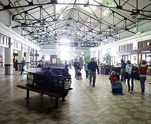 Transportation in Halifax, Nova Scotia - VIA rail station interior, 2012
