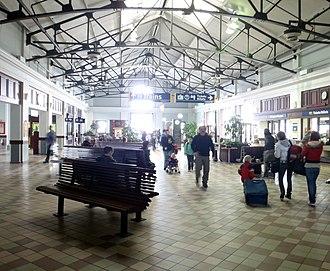 Transportation in Halifax, Nova Scotia - VIA rail station interior, 2012