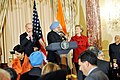Vice-President Biden, Secretary Clinton Co-Host Social Lunch in Honor of Indian Prime Minister (4373208471).jpg