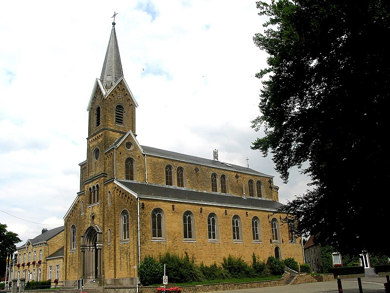 Vierset-Barse   (Belgium), the St. Martin church (1858).