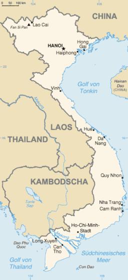 Vietnam map de