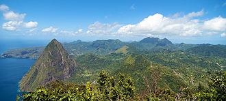 Qualibou - View from Gros Piton over the Qualibou caldera