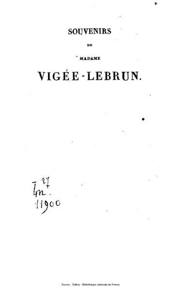 File:Vigée-Lebrun - Souvenirs de Mme Louise-Elisabeth Vigée-Lebrun, tome 2.djvu