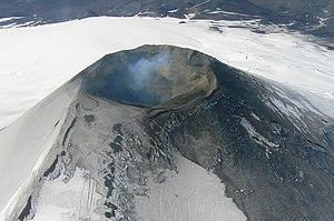 Villarrica (volcano) - Aerial view of Mount Villarrica.