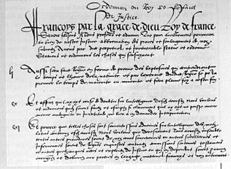 Ordinance of Villers-Cotterêts - Image: Villers Cot