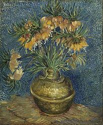 Vincent van Gogh: Szachownice cesarskie w miedzianym wazonie