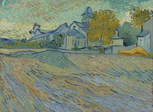 View of the Asylum and Chapel of Saint-Rémy - Image: Vincent van Gogh View of the Asylum and Chapel of Saint Rémy (F803)