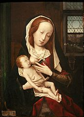 La vierge allaitant.