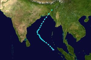 Cyclone Viyaru - Image: Viyaru 2013 track