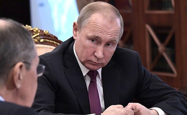 Vladimir Putin, Sergei Lavrov and Sergei Shoigu (2019-02-02) 03