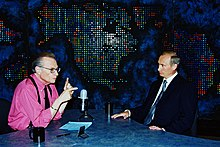 Wikipedia: The Larry King Show at Wikipedia: 220px-Vladimir_Putin_with_Larry_King