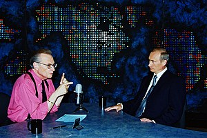 Larry King Live - King interviewing Vladimir Putin, September 8, 2000.