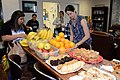 Volunteers set out breakfast at Fleet Activities Yokosuka's USO Center. (34562213554).jpg