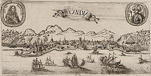 Vue du siege de Candie en 1669