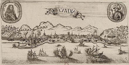 Depiction of the Siege of Candia Vue du siege de Candie en 1669.jpg