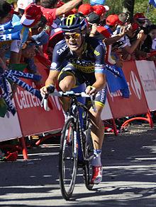 Photo d'un coureur cycliste sur son vélo.