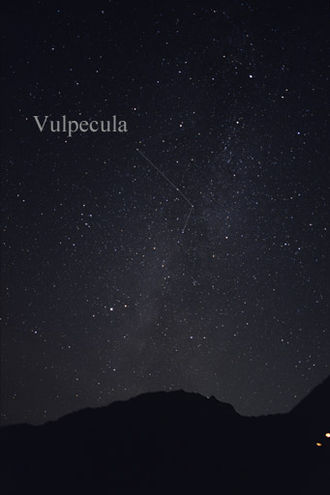 Vulpecula - The constellation Vulpecula as it can be seen by the naked eye.