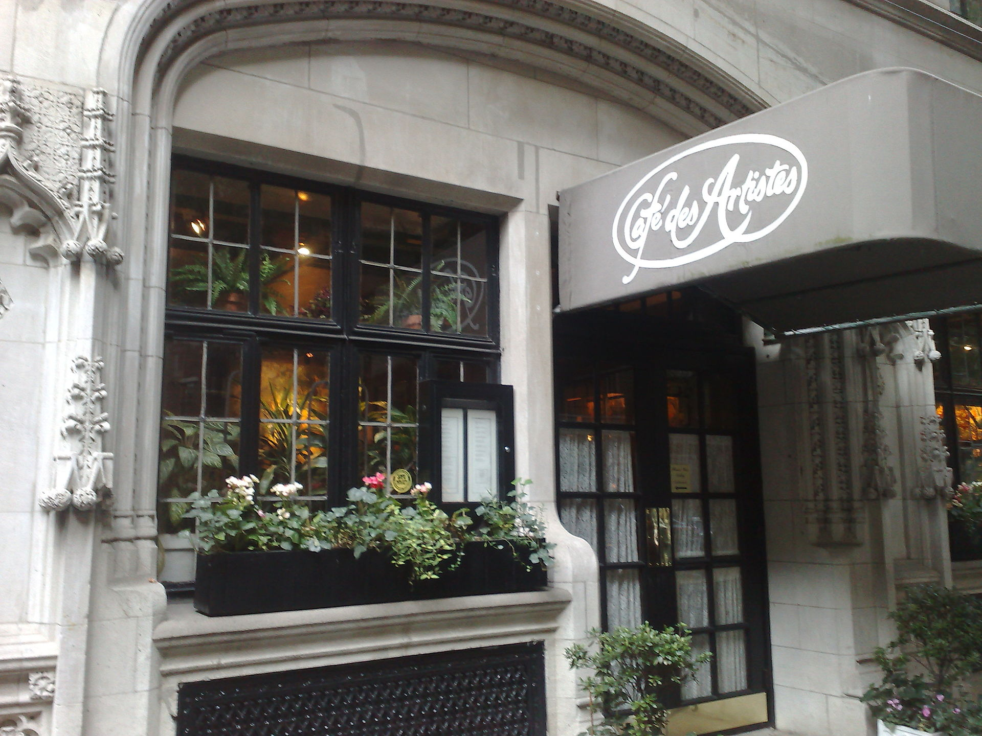 Cafe Des Artistes New York Ny