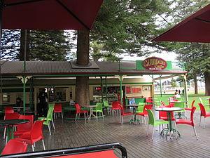 Esplanade Park, Fremantle - Carriage Cafe in the park