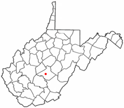 Location of Summersville, West Virginia