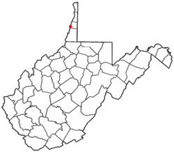 Location in Ohio County in the State of مغربی ورجینیا
