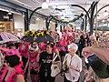 WWOZ 30th Birthday Parade French Market Stalls Steppers.JPG