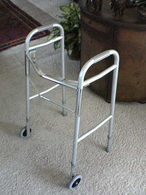 Fall prevention - Front-wheeled walker.