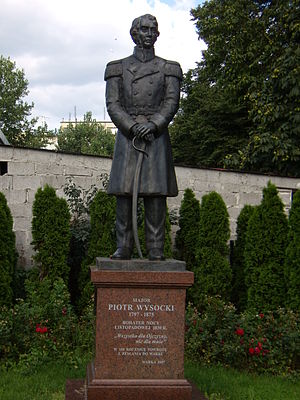 Warka - Image: Warka pomnik Piotra Wysockiego