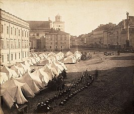 Russian army in Warsaw during martial law 1861