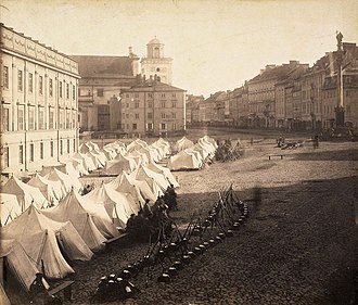 January Uprising - Russian army in Warsaw during martial law 1861