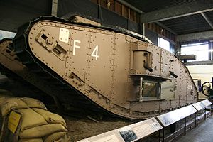 William Tritton - A Fosters' 1917 Mark IV tank at the Museum of Lincolnshire Life in January 2007, which saw action at the Battle of Cambrai (1917)
