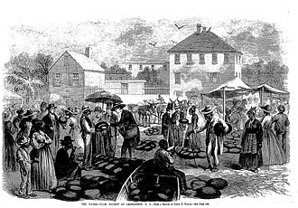 Watermelon stereotype - Image: Watermelons in Frank Leslie's Illustrated Newspaper 1866 12 15 p 197