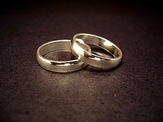Marriage - A pair of wedding rings