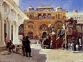 Weeks Edwin Arrival Of Prince Humbert The Rajah At The Palace Of Amber.jpg