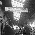 Welkomstbord in Station Leiden, Bestanddeelnr 900-7835.jpg