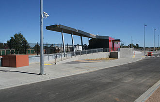 Wendouree railway station - Station front in March 2009