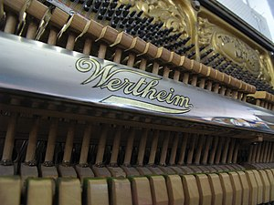 Wertheim Piano - Internals of a Wertheim upright piano