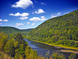 Bucktail State Park Natural Area - The West Branch Susquehanna River as seen in Bucktail State Park Natural Area