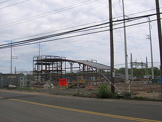 West Haven station - West Haven station under construction in May 2012