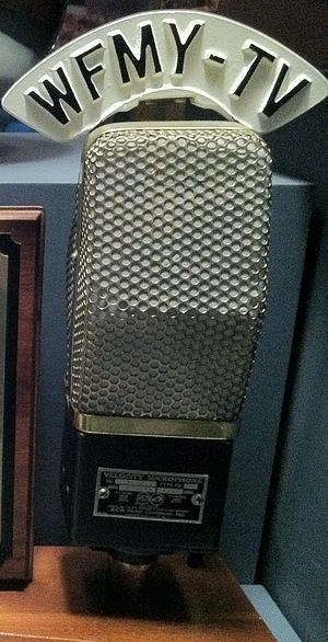 English: WFMY-TV microphone on display at the ...