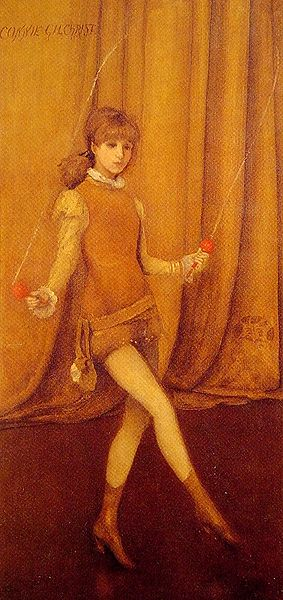 Tiedosto:Whistler James Harmony in Yellow and Gold The Gold Girl Connie Gilchrist 1873.jpg