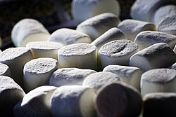 White marshmallows.