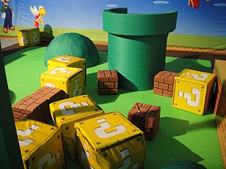 Mushroom Kingdom - A playing area inspired by the landscape and features of the Mushroom Kingdom was set up at Wii Games Summer 2010.