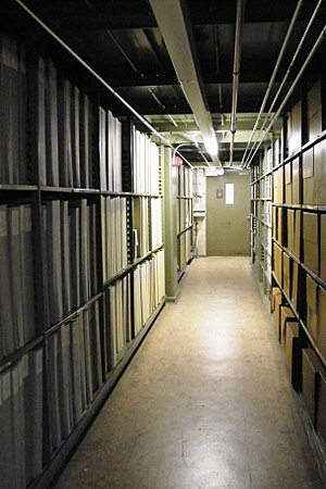 Archive - Storage facility at the National Archives and Records Administration, Washington, D.C.