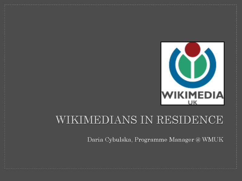 File:Wikimedian in Residence review - Wikimania 2014 learning day - Daria Cybulska.pdf