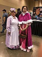 Wikinews C Mrs Potts and Belle IMG 1029.jpg